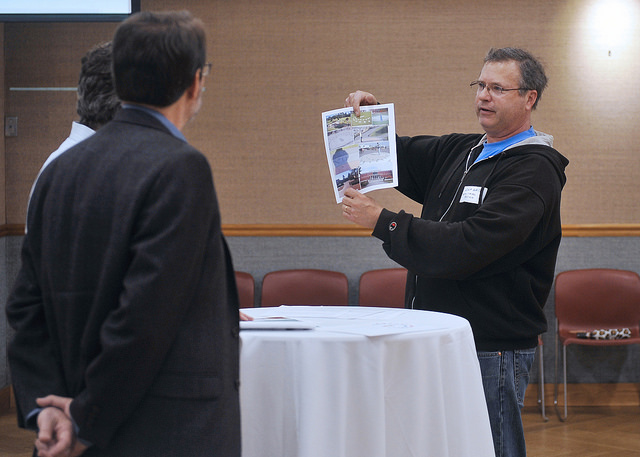 Attendee shares his ideas for consideration