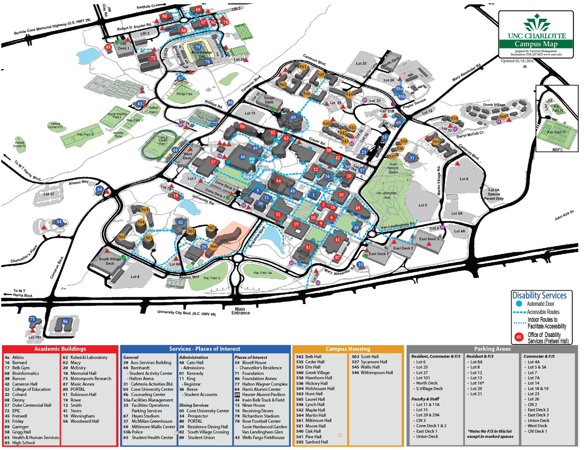 Uncc Campus Map   CYNDIIMENNA