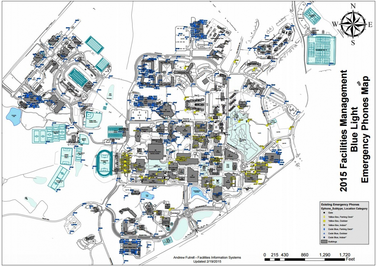 Printable campus maps facilities management unc charlotte printable campus maps malvernweather Images