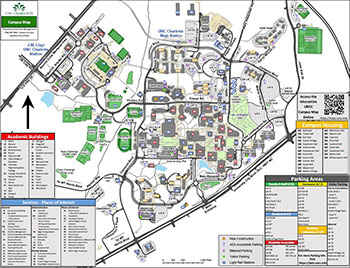 Umc Campus Map.Printable Campus Maps Facilities Management Unc Charlotte