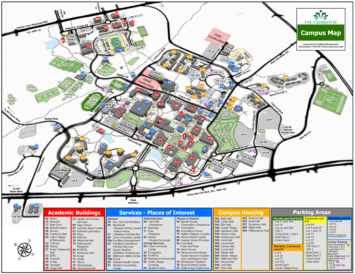 College writing services uncc map