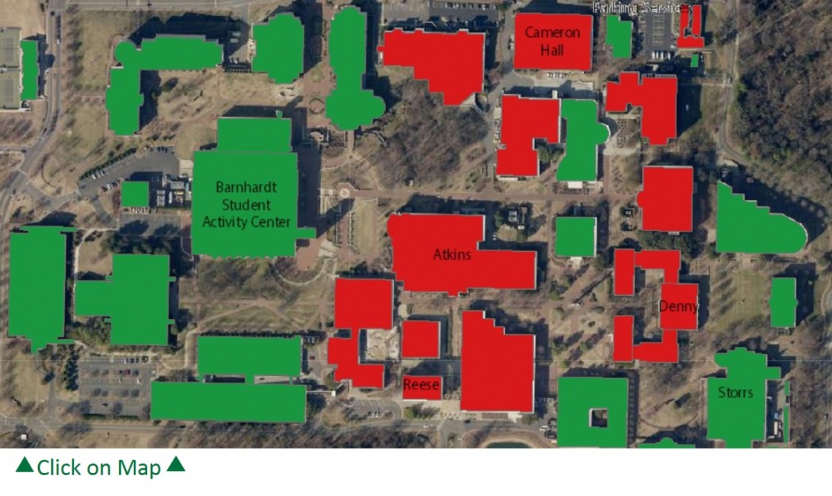 UNC Charlotte Capital Renewal and Deferred Maintenance (CRDM) Map