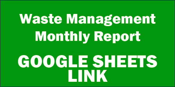 Google Waste Management Monthly Report