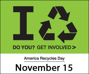 America Recycles day: November 15