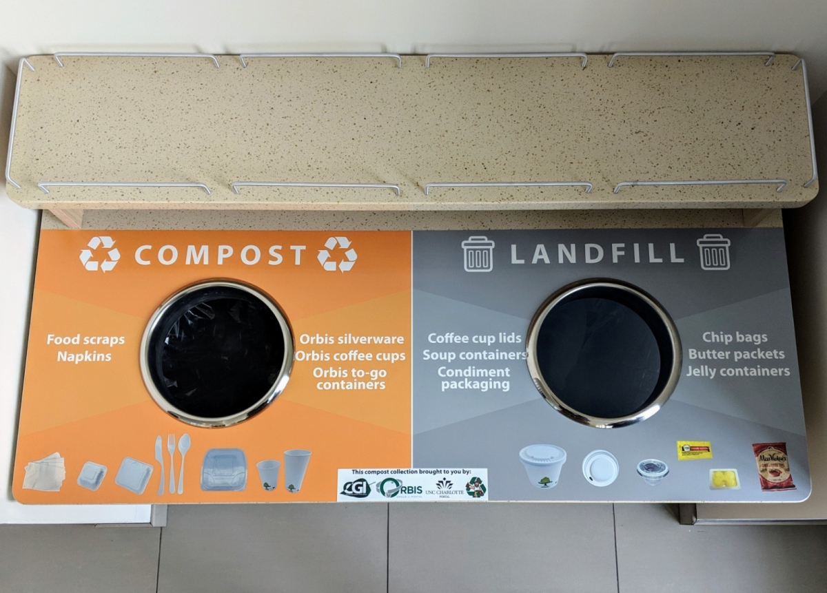 Compost and landfill waste bin