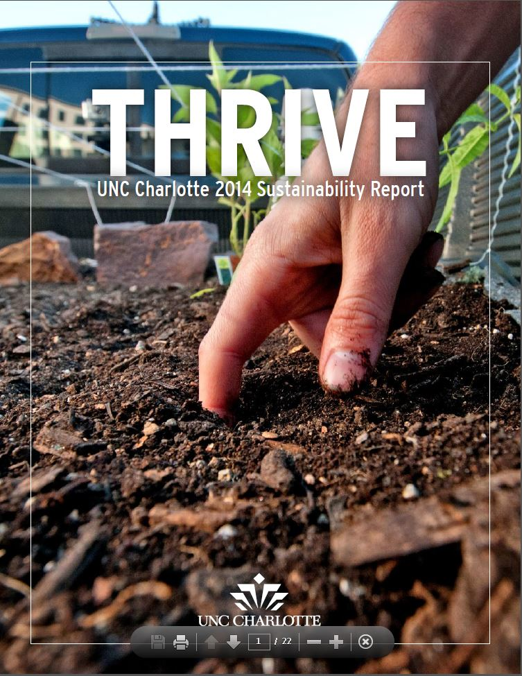 UNC Charlotte 2014 Sustainability Report