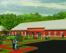 Rendering of Student Counseling Center