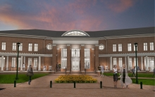 Admissions and Visitors center rendering