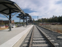 Light rail construction area