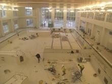 Interior construction of indoor pool
