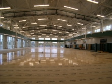 Construction of interior basketball courts