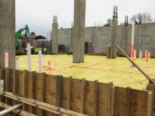 Construction to pour slab
