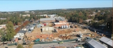 Overview of Science Building construction site