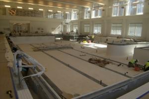 Interior pool construction in URec