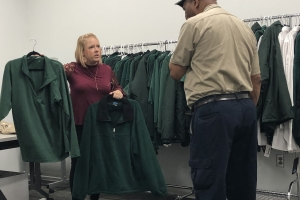 FM employees view new uniform jacket options