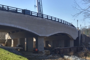 The Phillips Road Bridge during construction