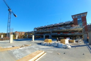 Union Deck expansion view from new concrete pour